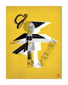 Image of Birdman Art Print Unframed at http://www.nicholasgirling.com