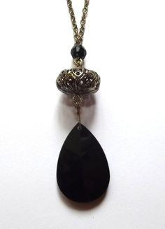 Kup mój przedmiot na #vintedpl http://www.vinted.pl/akcesoria/bizuteria/5443933-naszyjnik-zloty-czarny-kamien-dlugi
