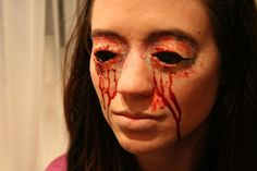 Lisa and her scary eye makeup for the corpse scene by ecstaticbird, via Flickr