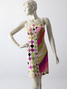 vintage 1960s Pucci silk dress