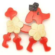 plastic poodle brooch - lea stein