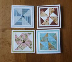 Quilted cards - quilted tags