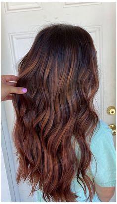 Baliage Hair, Balayage Hair Copper, Hair Color Balayage, Auburn Hair Balayage, Red Balyage, Dark Red Balayage, Fall Balayage, Baylage, Red Brown Hair Color