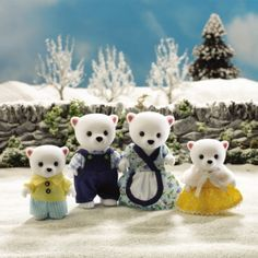 SYLVANIAN FAMILIES 4436 Polar Bear Family on eBay!
