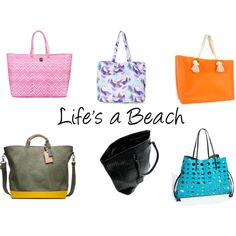 """Beach Totes"" by thestylebarn on Polyvore"