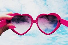 sunglasses #heart #sky