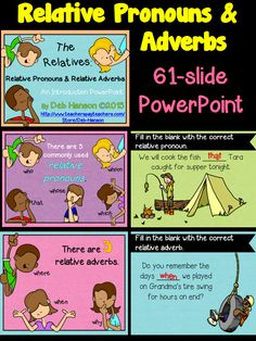 Relative Pronoun PowerPoint- lots of practice slides! (includes a study guide printable) Learn English For Free, Learn English Grammar, English Fun, English Study, English Vocabulary, Teaching English, English Tips, Grammar For Kids, Teaching Grammar