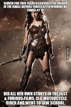 I am now convinced this girl was born to play Wonder Woman.