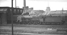 Wolverhampton Bushbury Sheds with a Patriot Class loco