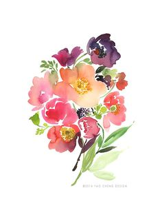 Logo Design Inspiration: Soft water colour flower inspiration