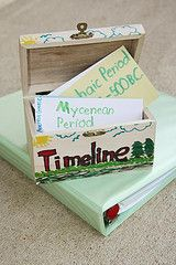 Neat way to store a timeline! Started ours this school year, love it! *