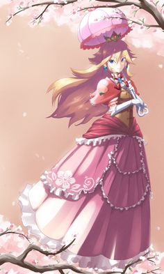 Princess Peach~SuperMario Bros by John Su Super Mario Bros, Super Mario Kunst, Super Mario Brothers, Super Smash Bros, Princesa Peach, Harmonie Mario, Betty Boop, Nintendo Princess, Culture Art