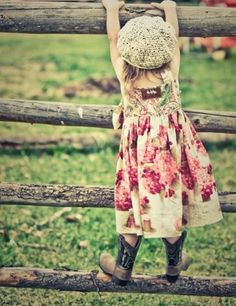 love little girls in cowboy boots
