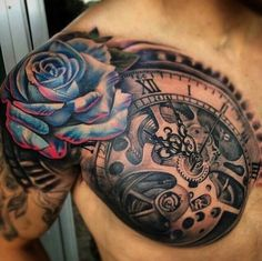 Half Sleeve & Chest Tattoo