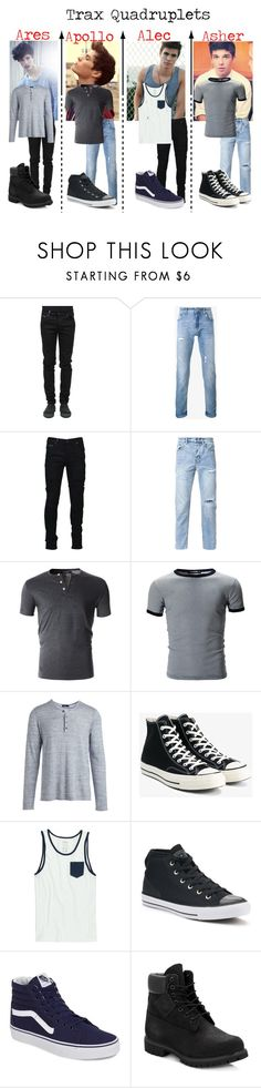 """""""Burn it to the ground"""" by frootloop16 ❤ liked on Polyvore featuring County Of Milan, Dolce&Gabbana, Marcelo Burlon, Ksubi, Vince, Converse, RVCA, Vans, Timberland and men's fashion"""