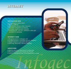 Infogec: Sviluppo soluzioni Web ad hoc, Progettazione portali Internet, Siti Internet, Web service, Portali e-commerce, forum, redazionali
