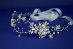 FREE SHIPPING, Crystal Wedding Headband, Rhinestone Bridal Hair Jewelry, Bridal Tiara, Wedding Headwear ,Wedding halo, Hair Vine by QTBridal on Etsy https://www.etsy.com/listing/242554397/free-shipping-crystal-wedding-headband