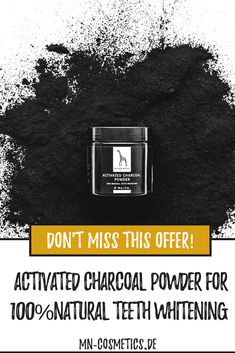 100 % Natural Teeth whitening Natural Teeth Whitening, Activated Charcoal, Natural Living, Mother Nature, Natural Remedies, Healthy Life, At Least, Lifestyle, Masks