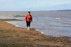 Me at Burntcoat Head, Nova Scotia