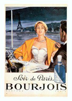 Soir de Paris Bourjois Vintage Perfume Ad