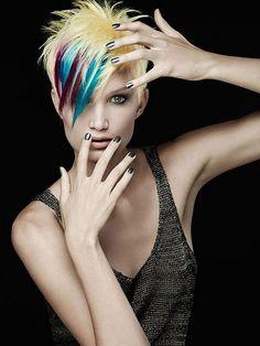 Colori su capelli corti