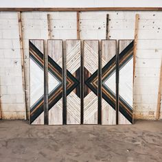 """Clay Haynes - Wall Art - (6) 12""""x60"""" Made from reclaimed wood from Gallatin, TN"""