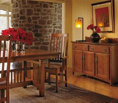 Amish Keystone Mission Dining Chair - Keystone Collection