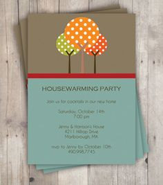 Fall / Autumn Tree Invitations or Moving by SweetCricketDesign, $15.00