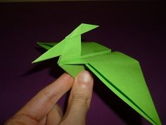 Origami Dinosaur Pterodactyl (How to make)