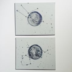 Constellation moon painting by oddFernweh on Etsy https://www.etsy.com/listing/243474690/constellation-moon-painting