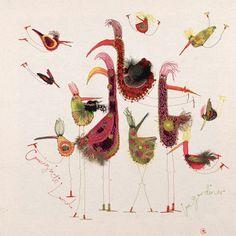 Louise Gardiner — британская художница и дизайнер по вышивке. «Мои вышивки вдохновлены природой, музыкой и творческой эмоцией. Моя работа предназначена для вдохновения других, а также для расширения моих собственных творческих границ. Я сочетаю увлекательную, сложную и свободную машинную вышивку со своей страстью к рисованию. Создаю большие фигуративные, цветочные и эпатажные произведения с…