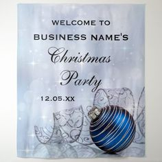 Custom Business Christmas Holiday Party Tapestry #christmas #party #holiday #party #business