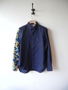 SASQUATCHfabrix Eototo Flower Panel Shirt/NAVY