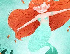 Behance, Illustration Art, Illustrations, New Work, Disney Characters, Fictional Characters, Digital Art, Character Design, Mermaid