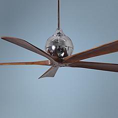 """52"""" Matthews Irene 5-Blade Walnut - Chrome Ceiling Fan"""