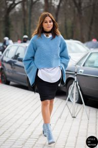 Christine Centenera of Vogue Australia after Louis Vuitton fashion show. PFW 2015
