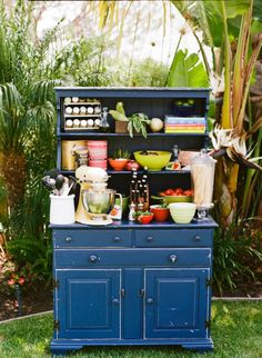 vintage cooking station.  bring outside for an outdoor bridal shower!