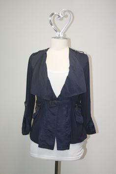 Adam Jacobs navy jacket. Lightweight and perfect for an evening out! #earabstracts #boutique