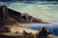 Lyonel Feininger - Das hohe Ufer (1923)