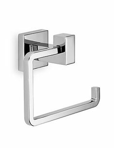 Chrome Square Contemporary Toilet Roll Holder