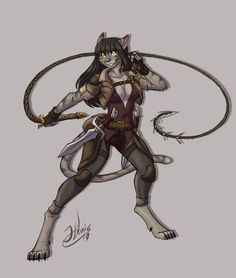 Tabaxi Rogue by ThatweirdguyJosh on DeviantArt Wolf Character, Fantasy Character Design, Character Portraits, Character Design Inspiration, Character Concept, Character Ideas, Concept Art, Furry Oc, Costumes