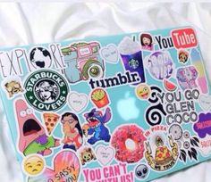 Cute adorable laptop stickers