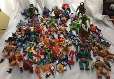 Mattel Masters Of The Universe He-Man Action Figure Lot of 36 Figures + 80's #Mattel