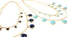 LOVE with everything! Double Layer Gemstone Necklace by Marlyn Schiff