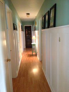 board-and-batten hallway