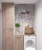 """Acquire excellent ideas on """"laundry room storage diy shelves"""". They are on call for you on our internet site. Laundry Room Remodel, Laundry Room Cabinets, Laundry Room Organization, Diy Cabinets, Restroom Cabinets, Small Laundry Rooms, Laundry In Bathroom, Small Bathroom, Bathroom Wall"""