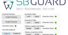 Το πρώτο πιο ολοκληρωμένο εργαλείο πρόληψης Ransomware που προστατεύει τον υπολογιστή σας Windows από όλα τα γνωστά κακόβουλα προγράμματα Ransomware όπως το CryptoLocker το CryptoWall το TeslaCrypt το CryptoXXX το CTB-Locker το Zepto και πολλά άλλα. Περιλαμβάνει μεγάλο αριθμό μηχανισμών περιορισμού και τροποποιεί ορισμένα βασικά στοιχεία των Windows για να αποφευχθεί η κακόβουλη συμπεριφορά των Ransomware. Το SBGuard το επιτυγχάνει τροποποιώντας εκατοντάδες καταχωρήσεις στο Windows registry…