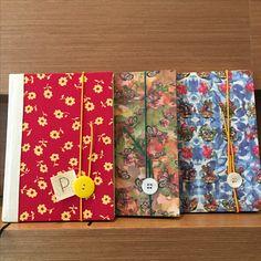 Cadernos artesanais capa de tecido