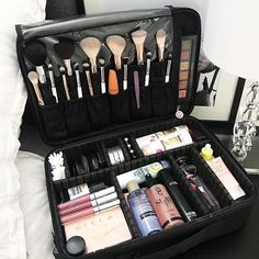 I am LOVING how simple it is now to pack for that little weekend away or holiday with our new VC Cosmetic Travel Bag. . This bag is truly a time and space saver! Gone are the days of needing several little bags and a lot of time to pack your cosmetics, toiletries, hair products etc . . Here is a great example of how this Cosmetic bag can be used to pack it all. All my shower products in one section, cotton buds and makeup pads in another, perfumes, brushes, hairprays, serums, creams…