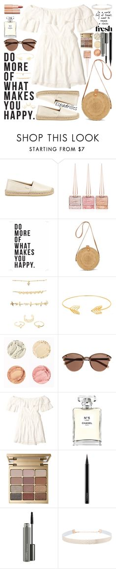 """""""white dress // #145"""" by jk802 ❤ liked on Polyvore featuring Gucci, Christian Louboutin, Native State, Charlotte Russe, Lord & Taylor, Witchery, Hollister Co., Chanel, Stila and MAC Cosmetics"""